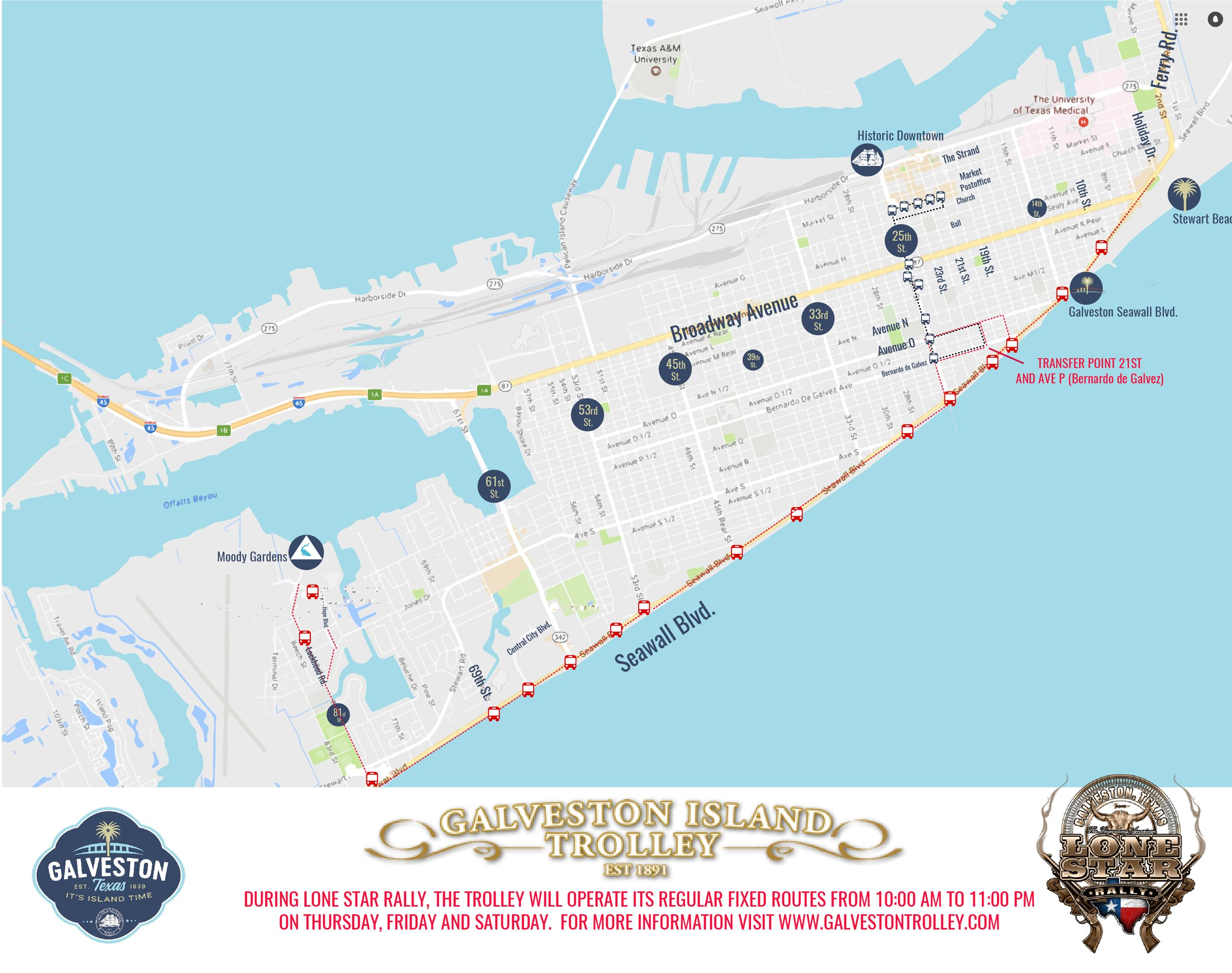 MAP TROLLEY LONE STAR2019