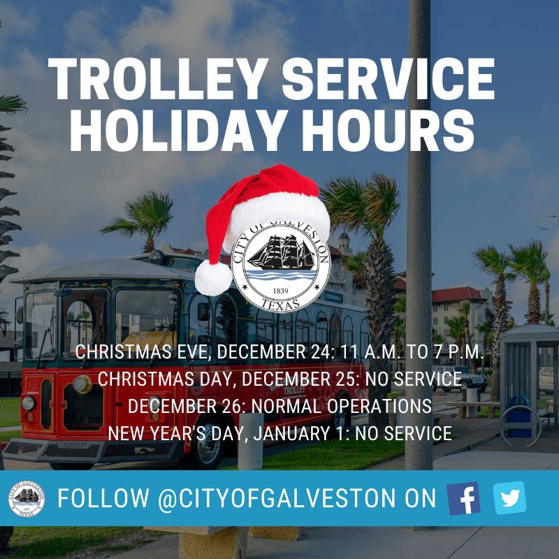 trolley xmas hours