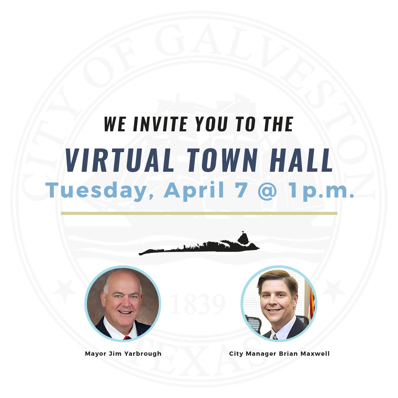 Important upcoming events: State of the City and Virtual Town Hall