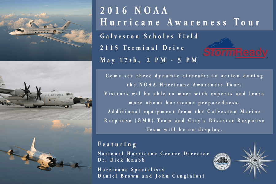 NOAA Hurricane Awareness Tour at Scholes Airport - 5/17
