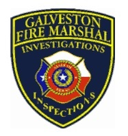 Galveston Fire Marshal's logo