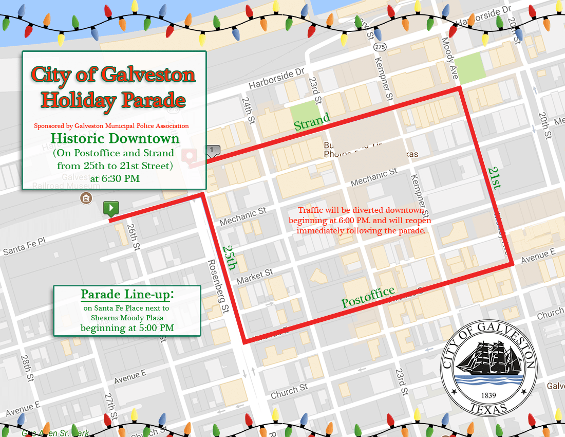 Holiday Parade Map