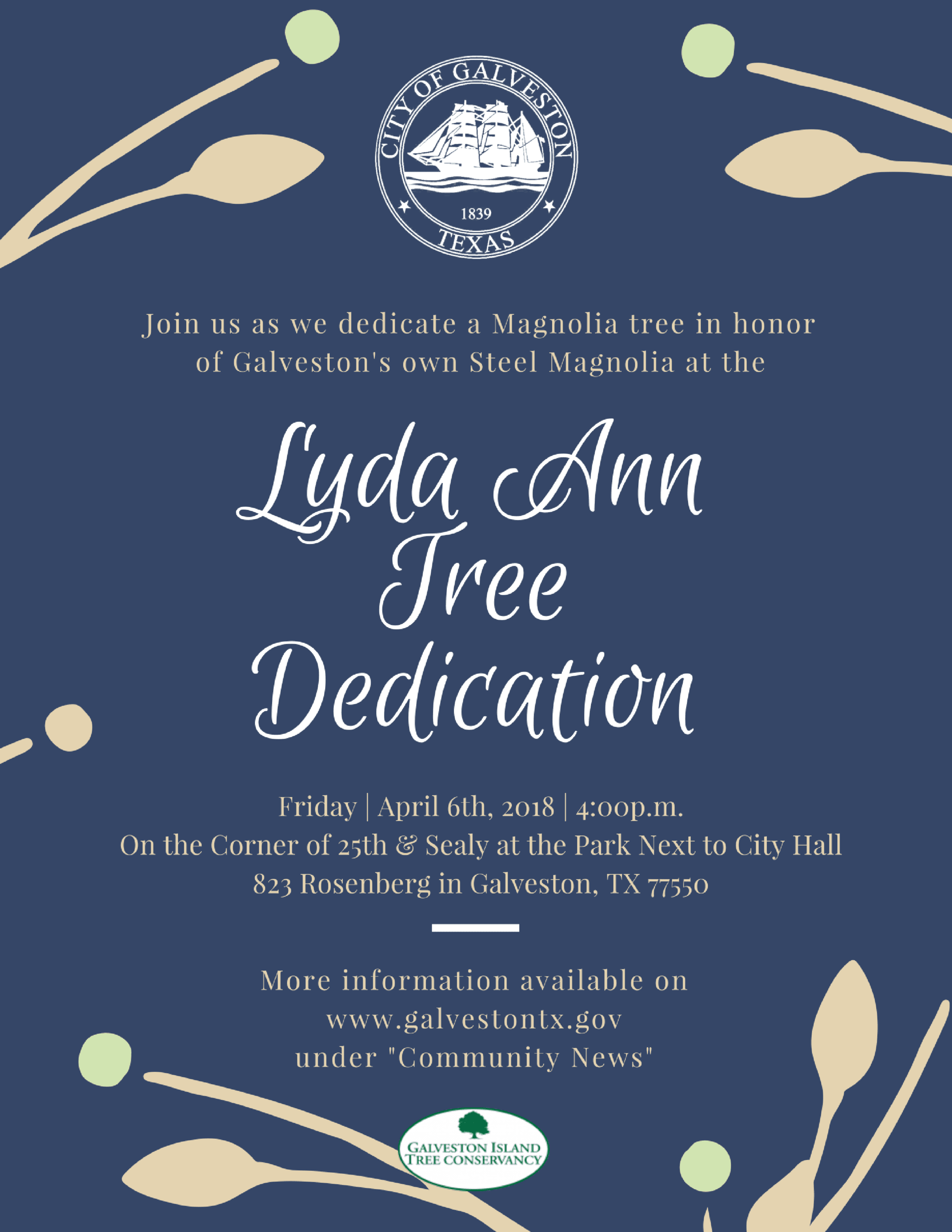lyda ann tree dedication invite