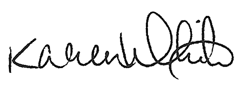 Karen White Signature