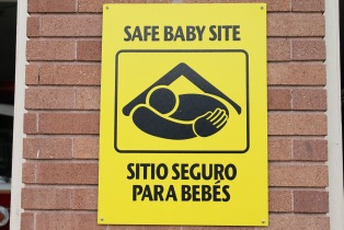 Photo of Safe Baby Site sign