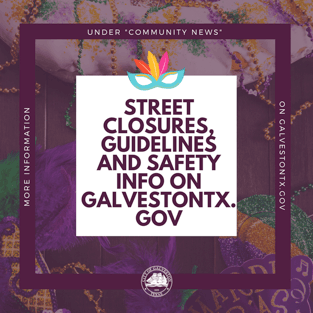 Mardi Gras street closure graphic
