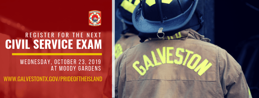 Civil Service Exam October 23, 2019   Galveston, TX