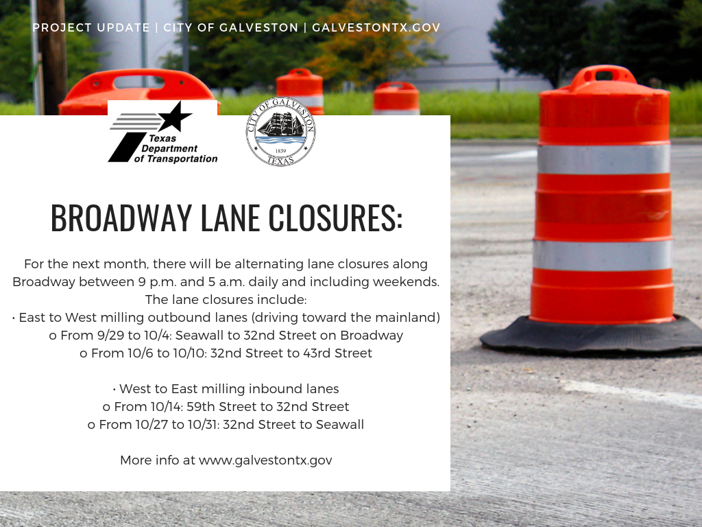Broadway lane closures