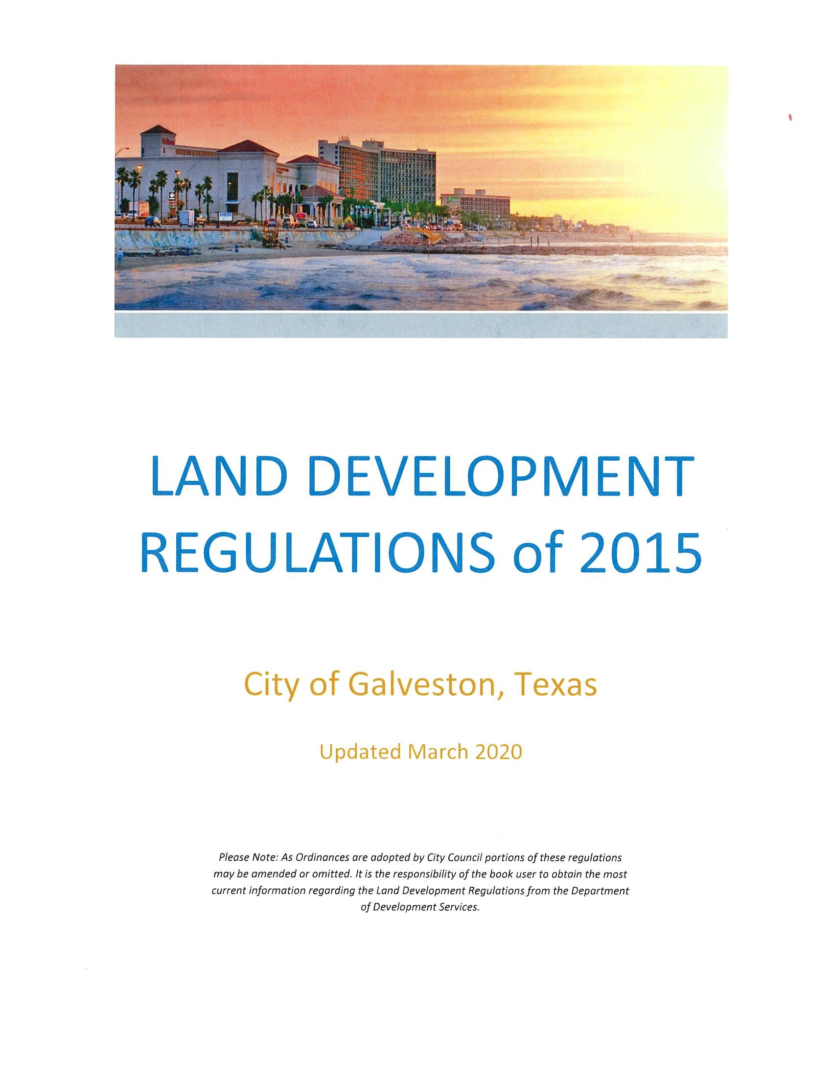Land Development Regulations Cover - Updated December 2018