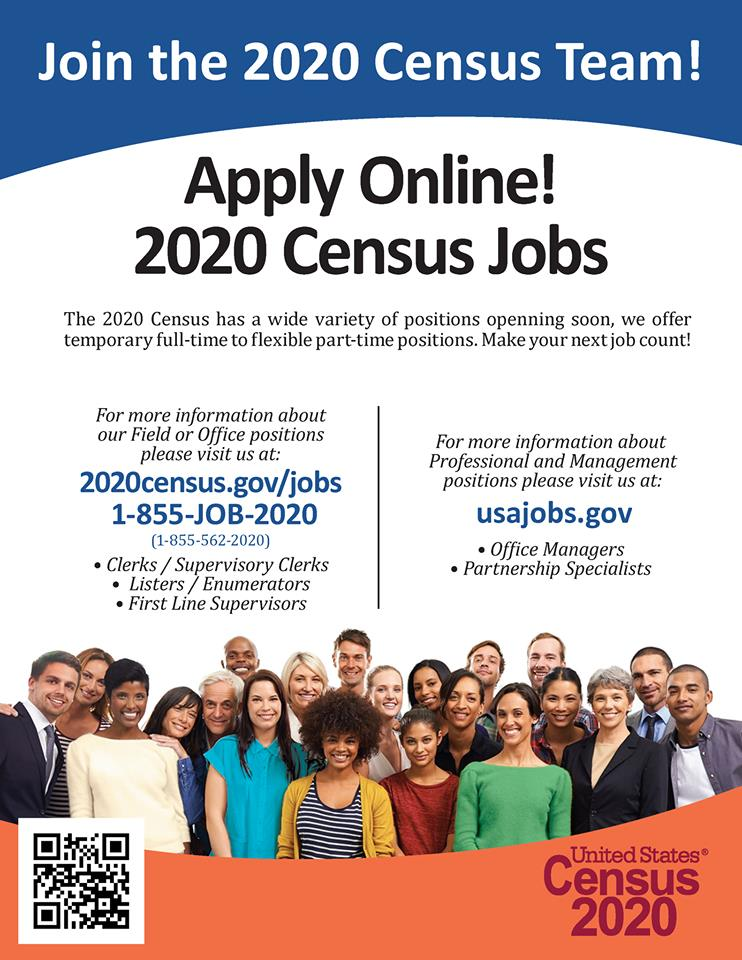 2020 Census Employment Opportunities - English Opens in new window