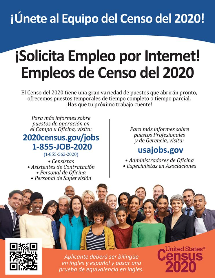 2020 Census Employment Opportunities - Spanish Opens in new window