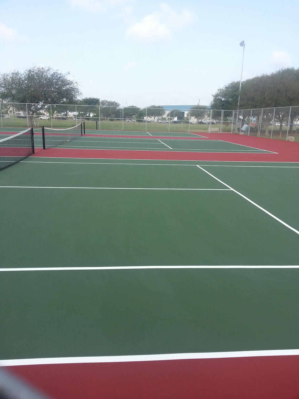 Lindale Park - Tennis Courts Resurfaced